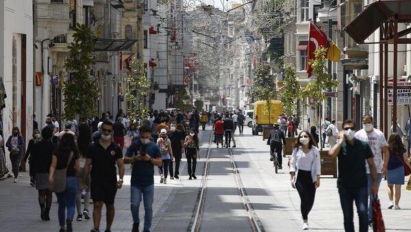 Türkiye - koronavirüs - İstiklal Caddesi - Sputnik Türkiye