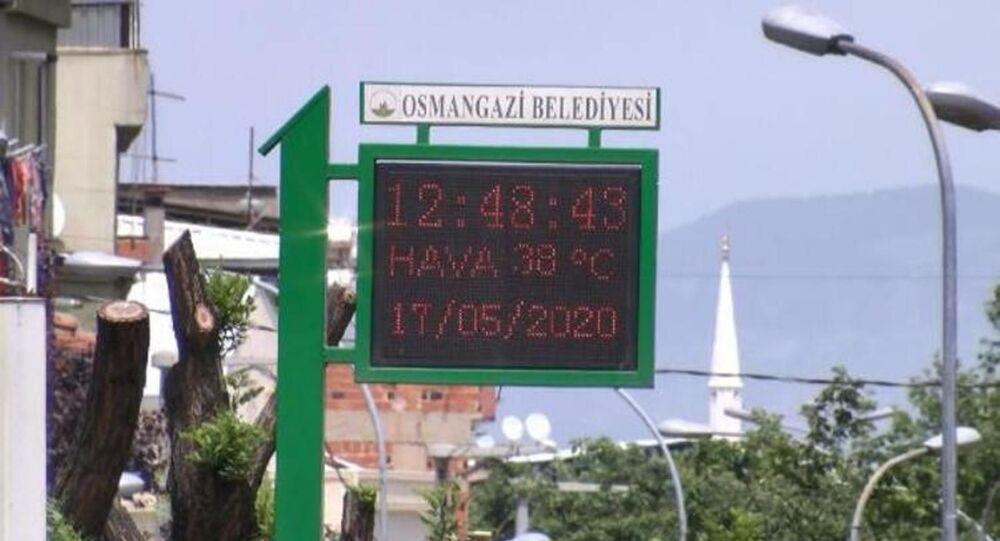 Bursa'da sıcaklık rekoru