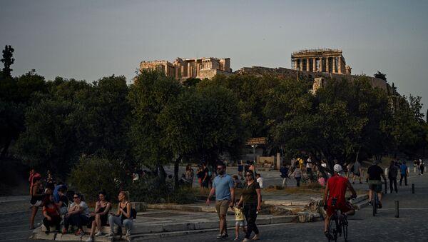 Yunanistan'da Akropolis yeniden ziyarete açıldı  - Sputnik Türkiye