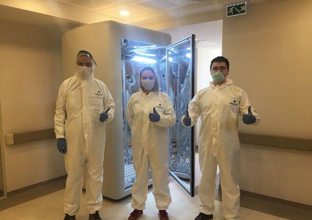 Koronavirüsü 30 saniyede öldüren kabin