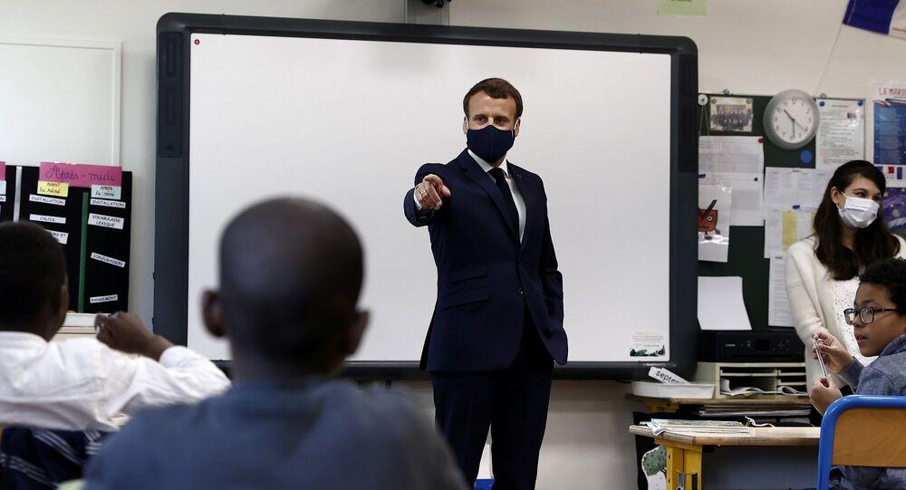 Emmanuel Macron-Fransa-Okul