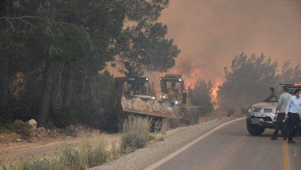 Kuzey Kıbrıs Tarım ve Doğal Kaynaklar Bakanlığı, Girne bölgesinde yer alan ve dün yangın çıkan Tepebaşı'ndaki ormanlık alanla ilgili fotoğraflar paylaştı. Alanda soğutma çalışmaları sürüyor. - Sputnik Türkiye