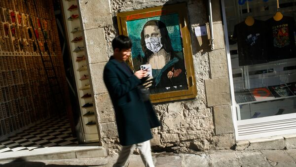 Maskeli Mona Lisa - Sputnik Türkiye