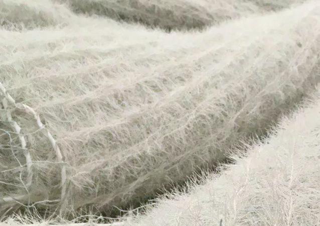 Rusya'da geliştirilen ve askeri teçhizatı kar örtüsü şeklinde kamufle eden radyo emici malzemenin ilk görüntüsü yayınlandı.