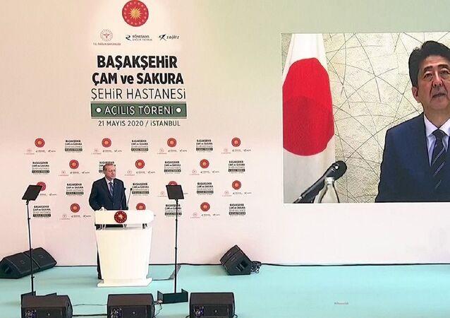 Japonya Başbakan Şinzo Abe - Recep Tayyip Erdoğan