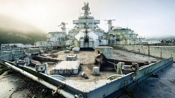 Askeri gemi mezarlığının görüntüleri - Sputnik Türkiye