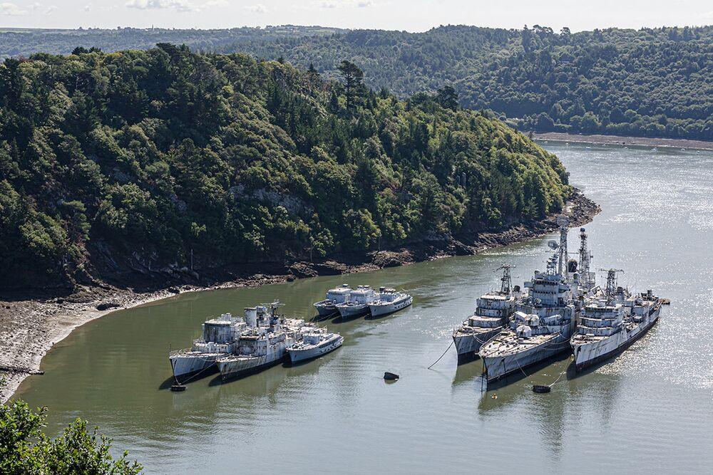Bob Thissen tarafından keşfedilen askeri gemi mezarlığından bir kare
