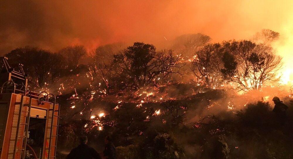Antalya'nın Kaş ilçesi Çukurbağ Yarımada mevkiinde çıkan orman yangını kontrol altına alındı