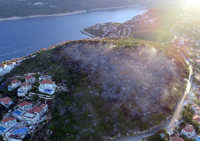 Antalya'nın Kaş ilçesi Çukurbağ Yarımada mevkiinde çıkan orman yangını tamamen söndürülürken alevlerin verdiği zarar gün ağarınca ortaya çıktı. Yaklaşık 4 saat devam eden yangında 3 hektarlık makilik alan kül oldu.