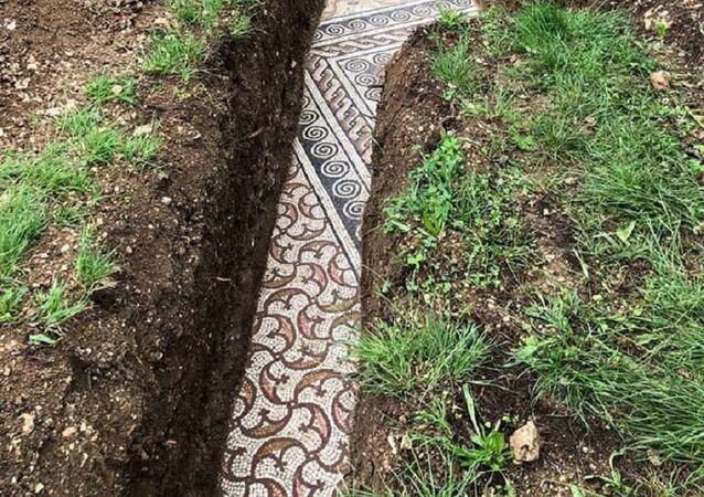 İtalya'da Roma dönemine ait bir villanın zemin mozaikleri