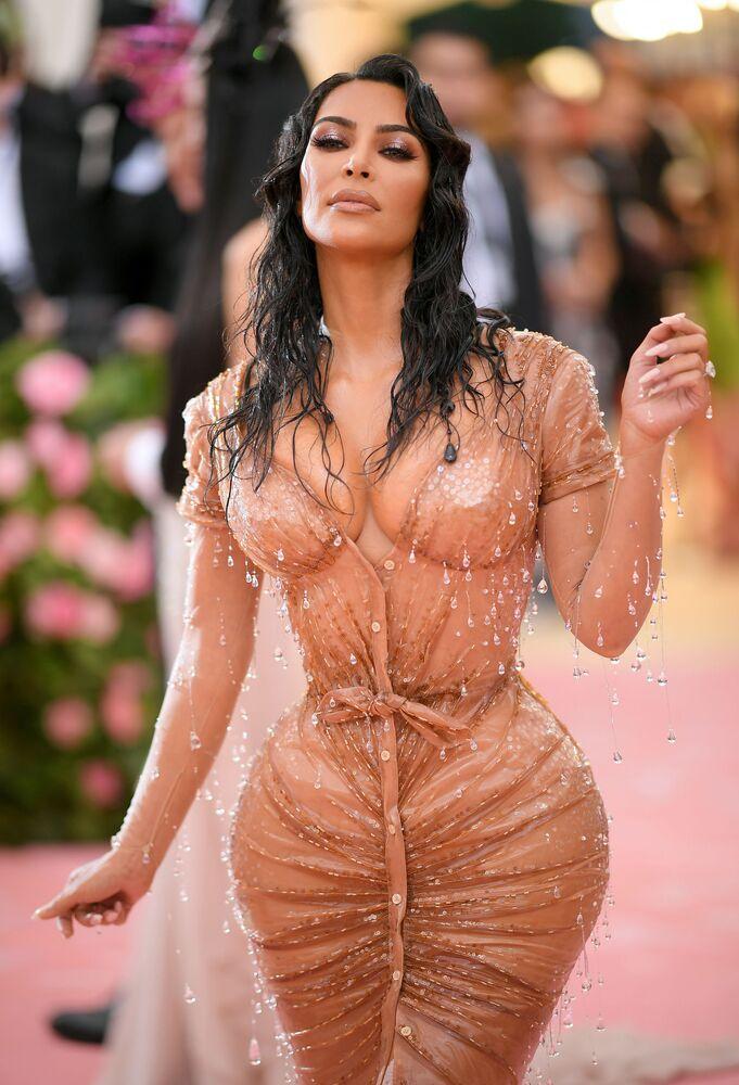 ABD'li oyuncu ve televizyon sunucusu Kim Kardashian
