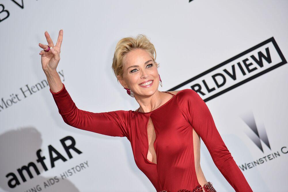 Amerikalı oyuncu Sharon Stone