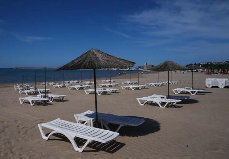 İstanbul'daki plajlarda hazırlıklar tamamlandı