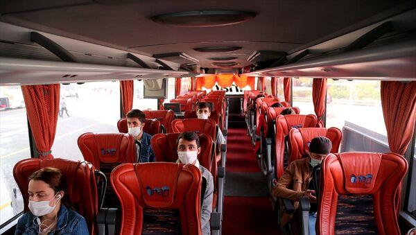 Ankara Şehirler Arası Otobüs Terminali (AŞTİ) - koronavirüs - maske - bilet - otobüs bileti - Sputnik Türkiye