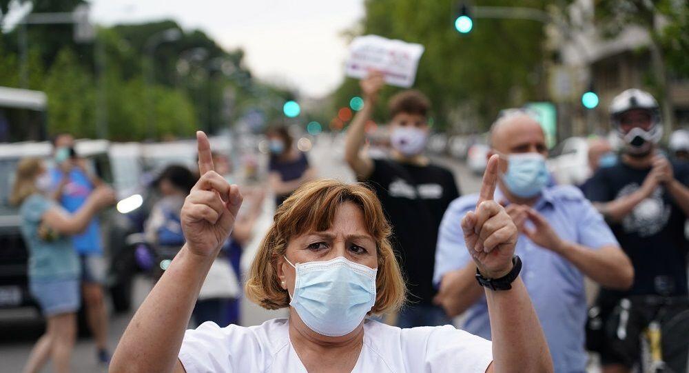 İspanya protesto