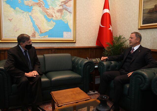 Milli Savunma Bakanı Hulusi Akar, ABD'nin Ankara Büyükelçisi David Satterfield