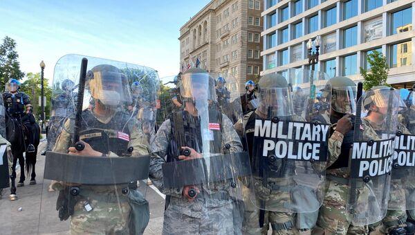 George Floyd, protesto, Washington, Ulusal Muhafızlar - Sputnik Türkiye
