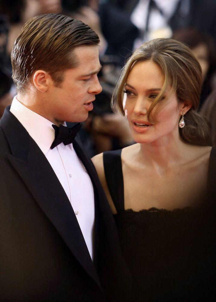Angelina Jolie ve Bradd Pitt, Cannes Film Festivali kırmızı halısında, 2007