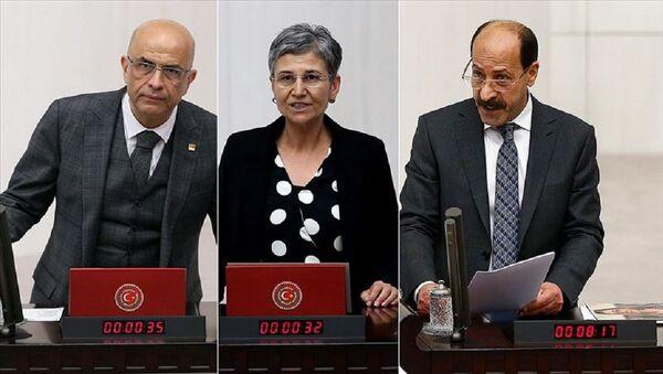 Enis Berberoğlu, Leyla Güven, Musa Farisoğulları - Sputnik Türkiye