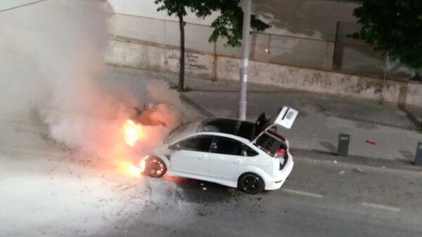 Asker uğurlaması sırasında konvoydaki araç yandı - Sputnik Türkiye