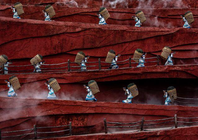 Fotoğrafçı Jacopo Maria Della Valle'nin Çin'de çektiği pirinç yetiştiriciliği ile uğraşan insanlar görüntüsü, IPA 2020  Uluslararası Fotoğraf Yarışması'nın Hareket/İnsanlar kategorisinde birinci seçildi