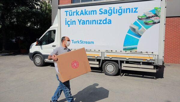 TürkAkım boru hattı,  koruyucu sağlık ve temizlik malzemesi yardımı - Sputnik Türkiye