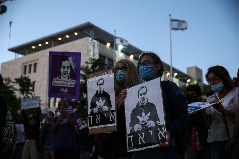 İsrail güçleri, yürüyüş yapmak isteyen gruba müdahale etti.