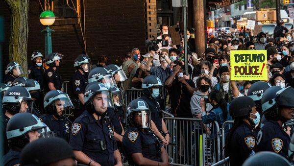 George Floyd protestoları-New York - Sputnik Türkiye