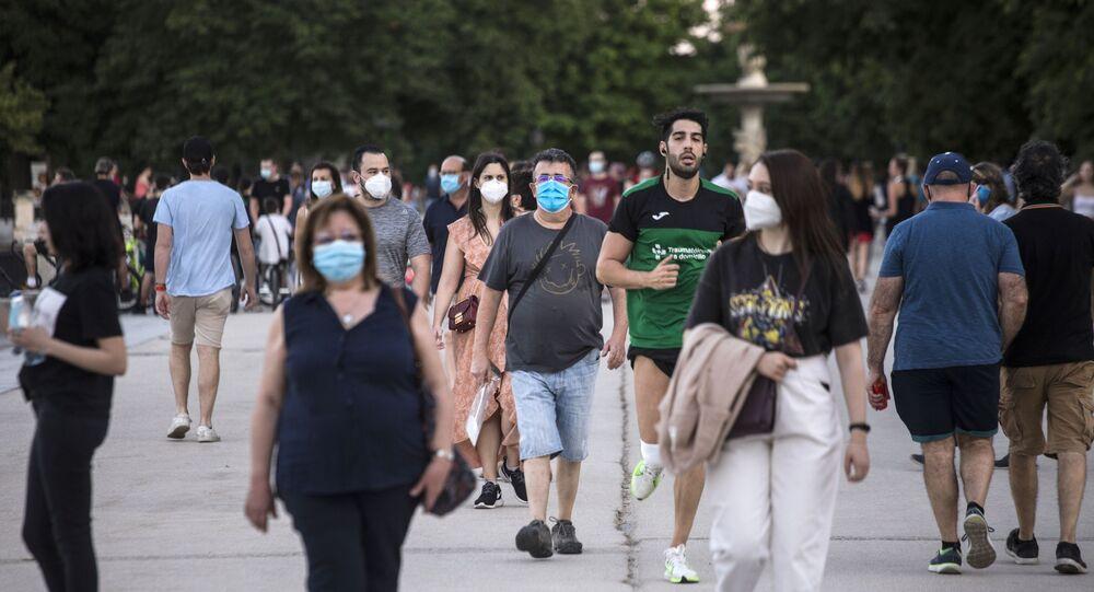 Koronavirüs - Madrid - İspanya - maske