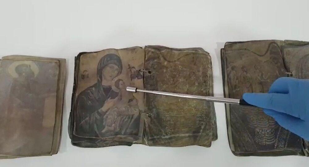 Kırıkkale'de Hristiyanlığın ilk dönemlerine ait ceylan derisi üzerine yazılı dua kitapları ele geçirildi