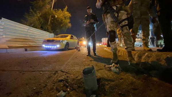 Bağdat Havalimanı yakınlarına füze düştü - Sputnik Türkiye