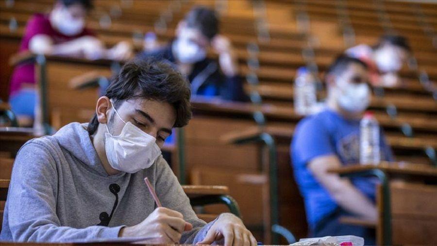 Maskeli sınav-maske