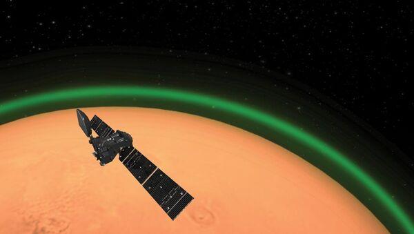 Mars atmosferinde yeşil ışık  - Sputnik Türkiye
