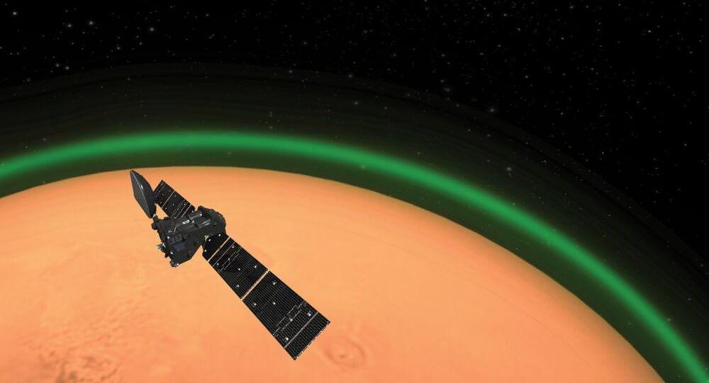 Mars atmosferinde yeşil ışık
