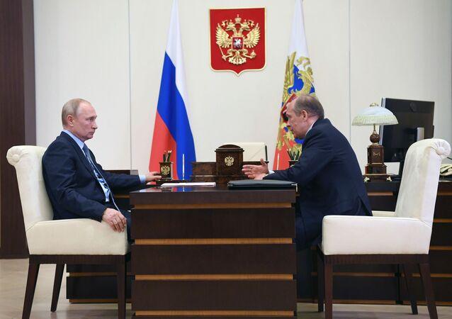 Rusya Devlet Başkanı Vladimir Putin - FSB Başkanı Bortnikov
