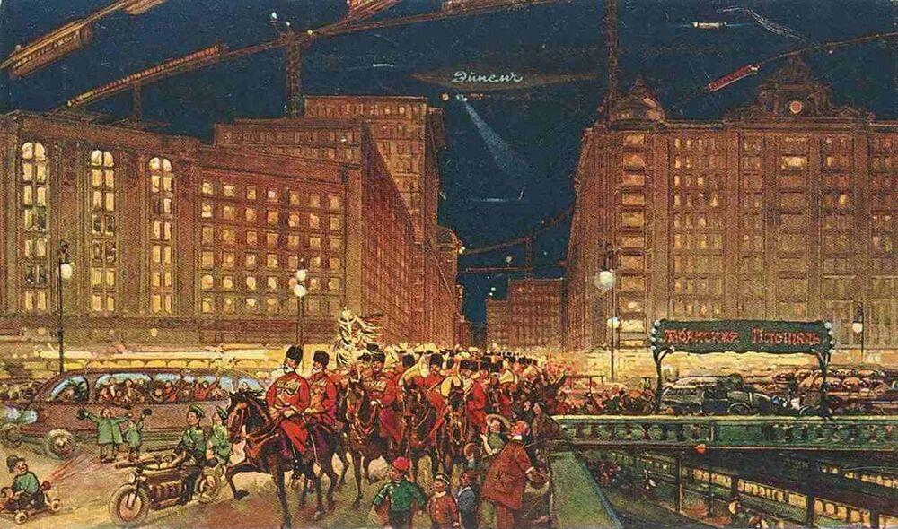 Ressama göre, Lubyanka Meydanı'nın 2259 yılındaki görünümü böyle olabilirdi