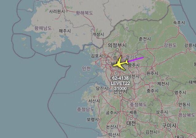 ABD Hava Kuvvetleri'ne ait istihbarat uçağının Kore Yarımadası üzerinde uçuş yaptığı bildirildi.