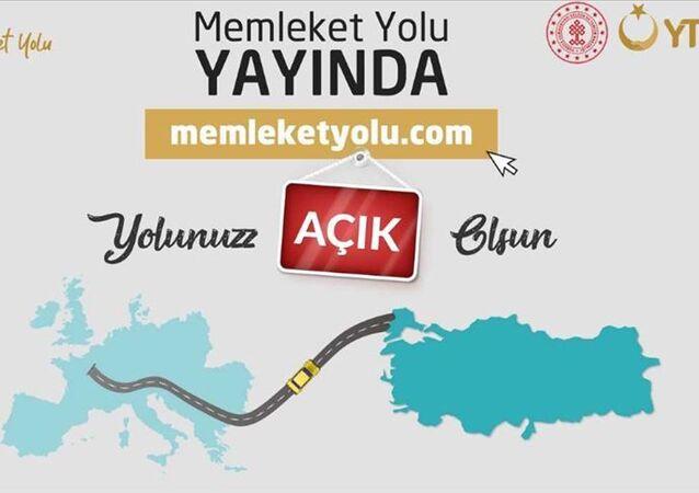Yurtdışı Türkler ve Akraba Topluluklar Başkanlığının (YTB), yurt dışından kara yoluyla Türkiye'ye gelecek vatandaşlar için hazırladığı 'Memleket Yolu' internet sitesi faaliyete girdi.