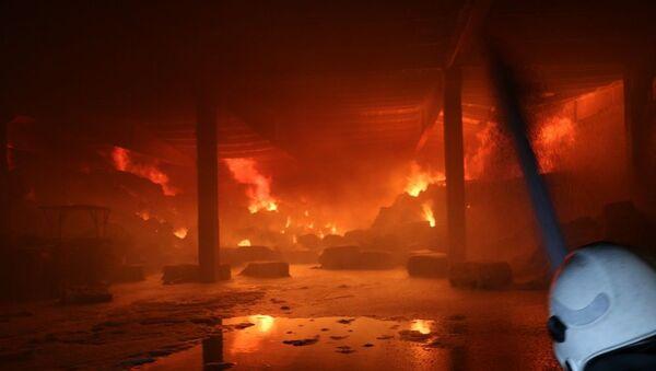 Kahramanmaraş'ta fabrikada çıkan yangın kontrol altına alındı - Sputnik Türkiye