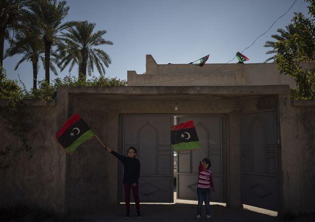 Libya bayrağı - Trablus - çocuk