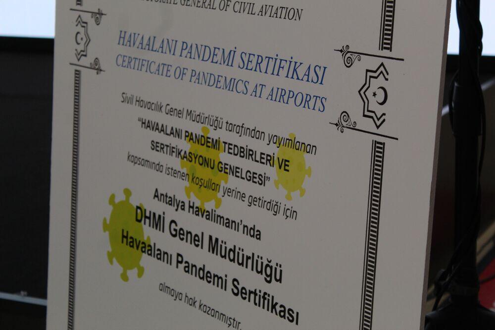 Antalya havalimanı'nın andemi sertifikası