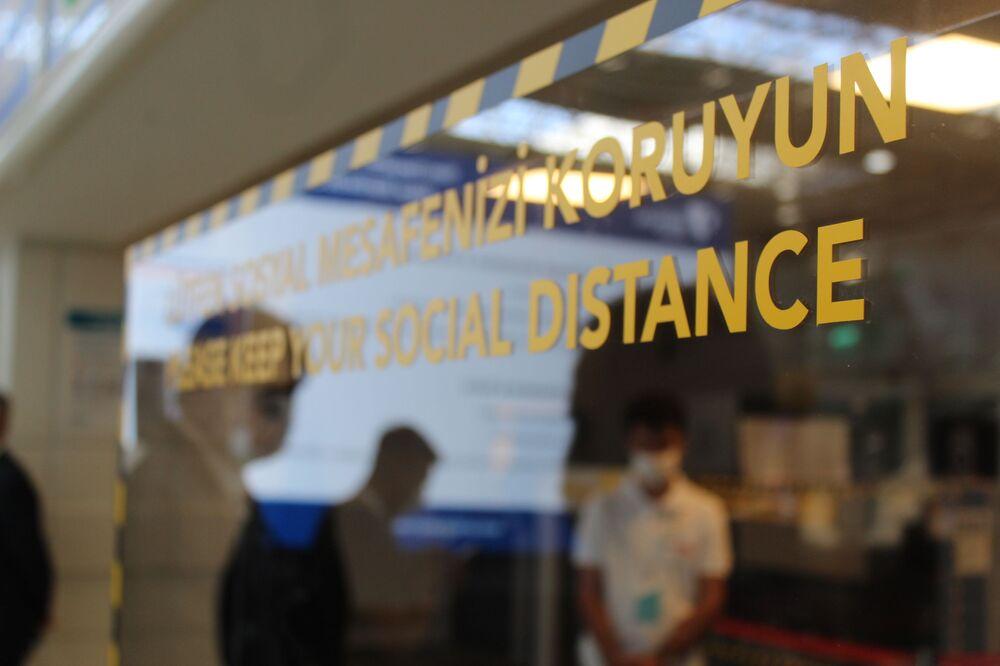 Antalya havalimanınından bir kare