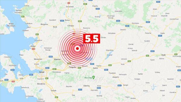 Manisa'da 5.5 büyüklüğünde deprem - Sputnik Türkiye