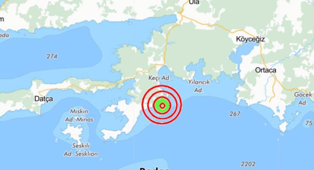 Muğla'nın Marmaris ilçesinde 5.2 büyüklüğünde bir deprem meydana geldi.