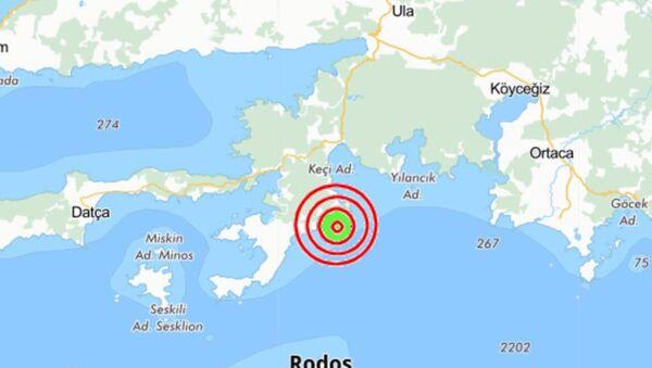 Muğla'nın Marmaris ilçesinde 5.2 büyüklüğünde bir deprem meydana geldi. - Sputnik Türkiye