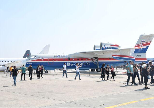 Rus yapımı Be-200CHS tipi amfibik uçak