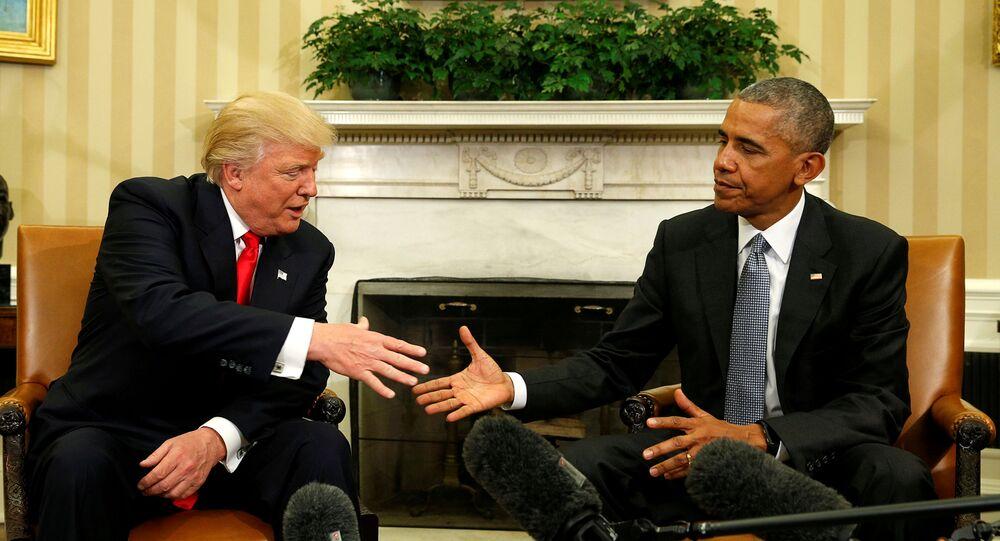 Barack Obama - Donald Trump