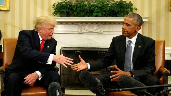Barack Obama - Donald Trump - Sputnik Türkiye
