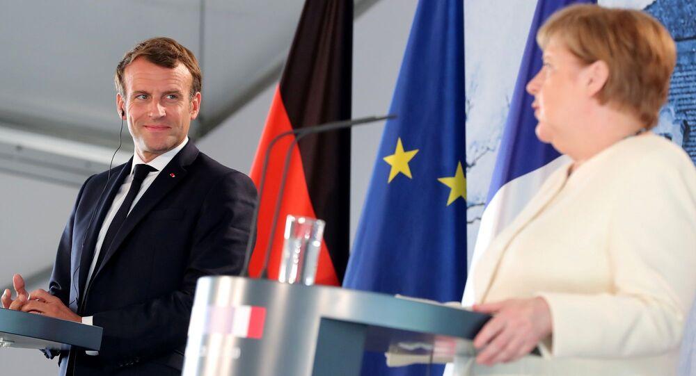 Almanya Başbakanı Angela Merkel - Fransa Cumhurbaşkanı Emmanuel Macron