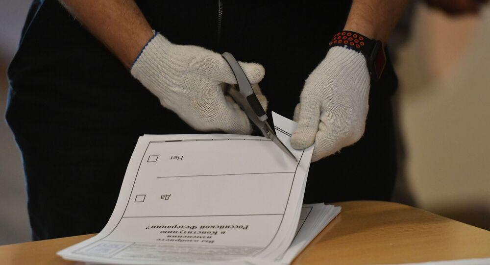 Rusya'da anayasa değişiklikleri ile ilgili oylama